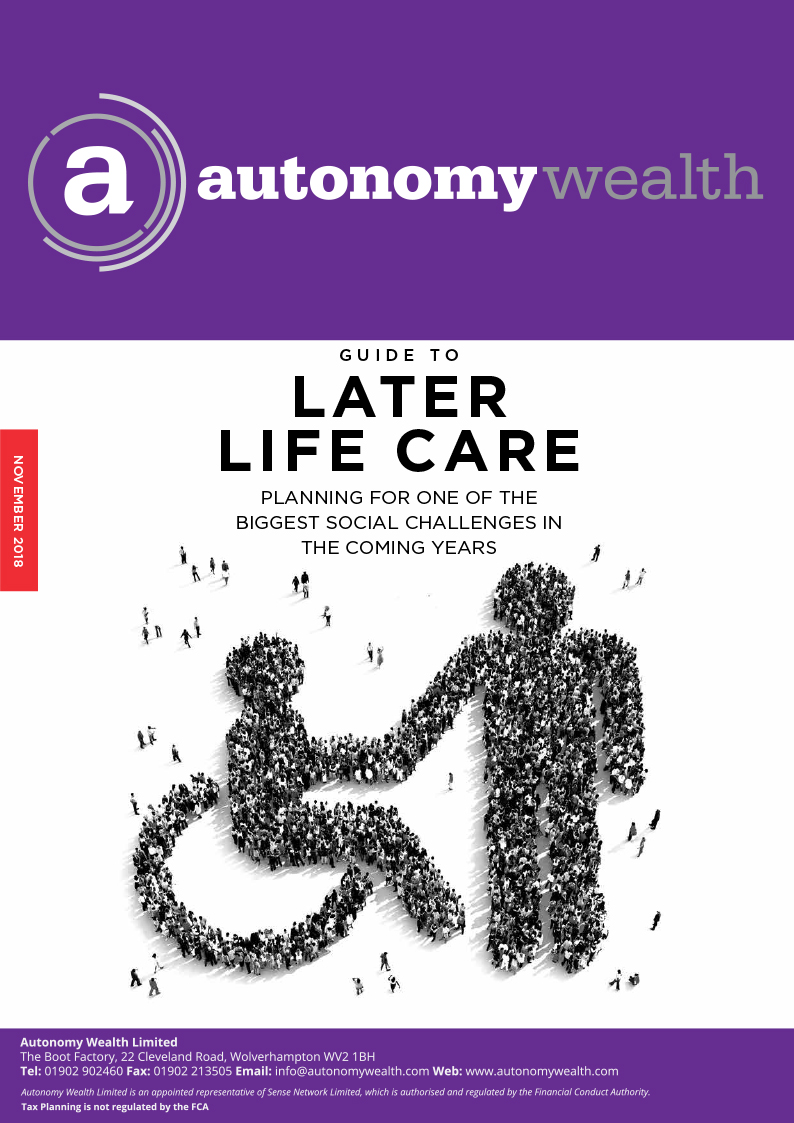 Download our PDF guide to Later Life Care